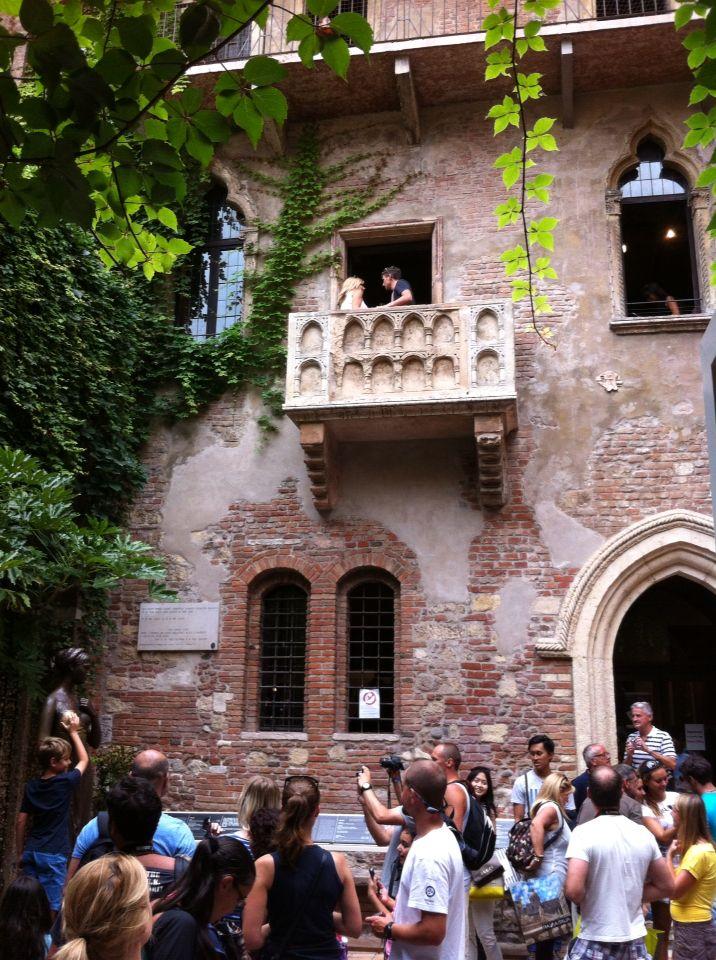 Balkon Romeo Julia Verona Verona Verona Und Italy