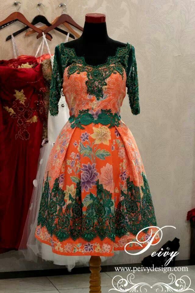 tutu batik dress   Batik Rules   Desain blus, Brokat, dan Gaun