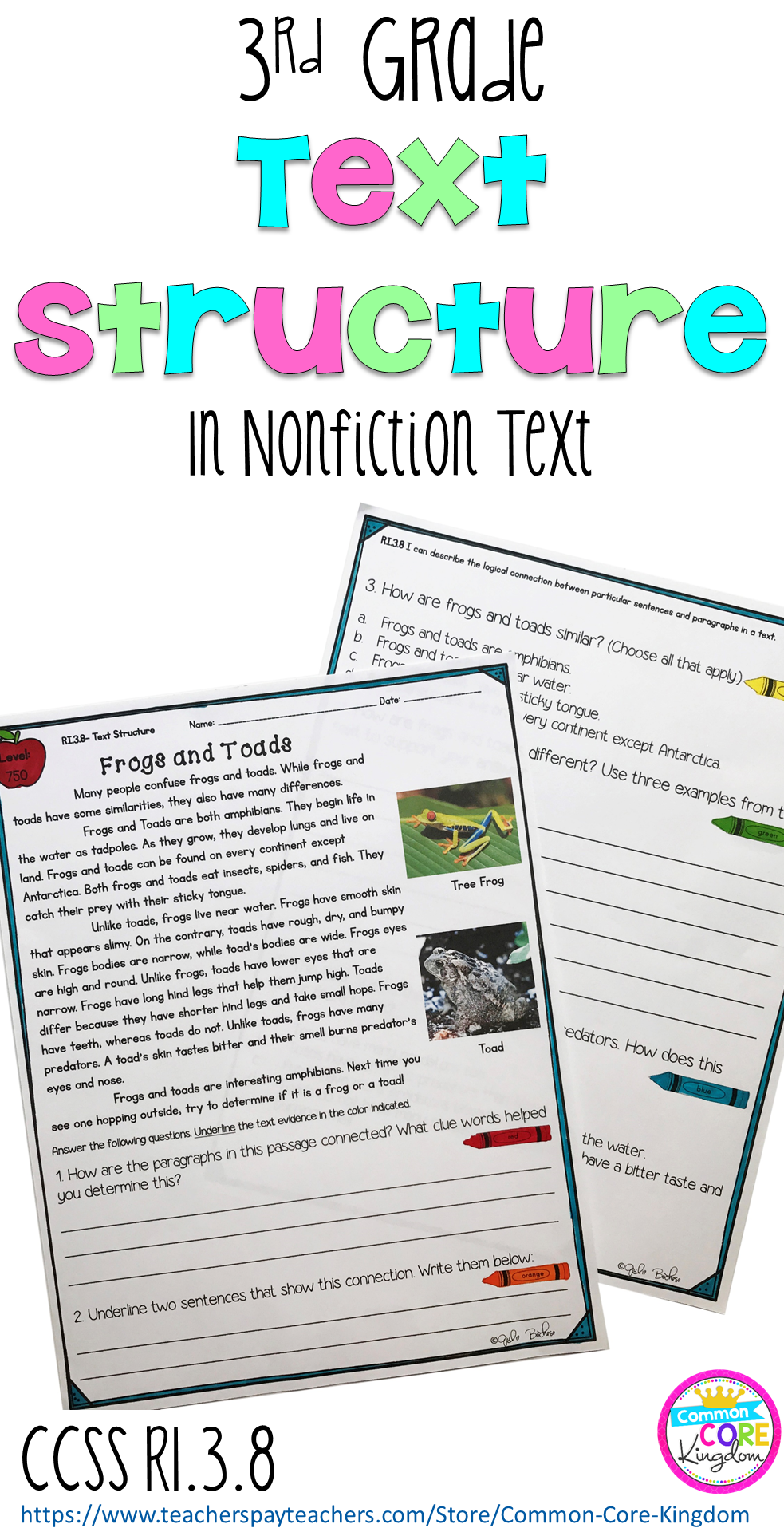 - Text Structure: Connecting Sentences And Paragraphs - 3rd Grade RI