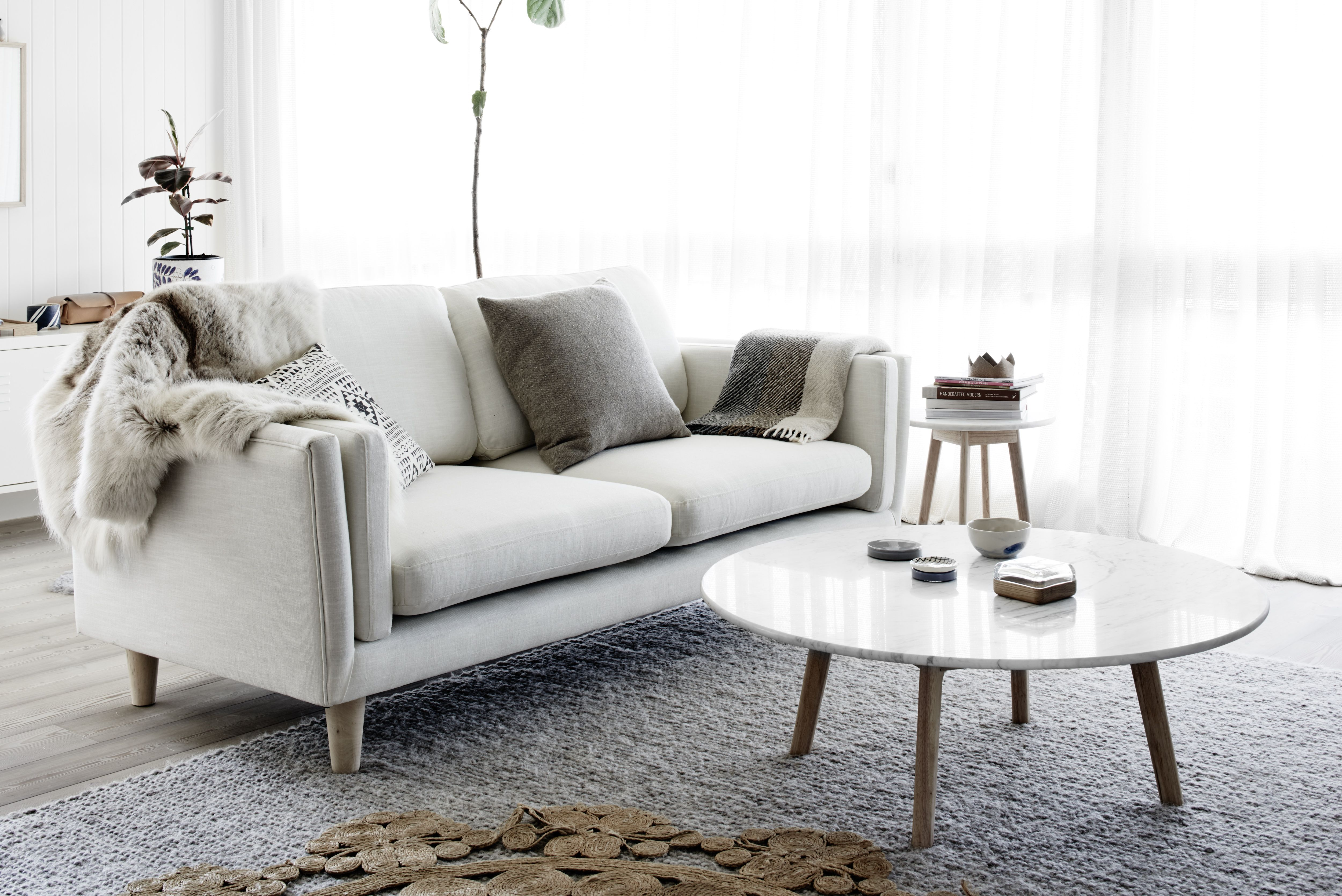 Harpers Project Round Marble Coffee Table Scandinavian Design And
