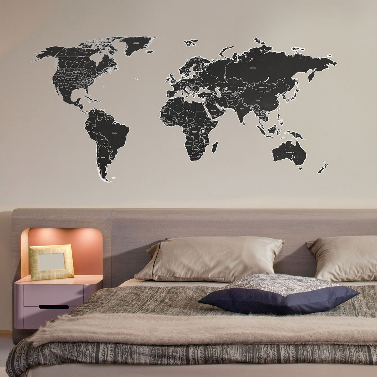Black labelled world map wall sticker buy online today at bouf black labelled world map wall sticker buy online today at bouf gumiabroncs Gallery