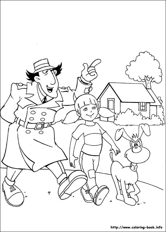 Inspector Gadget coloring picture | Images girl | Pinterest ...