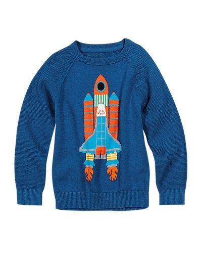 Pure Cotton Rocket Print Jumper (1-7 Years) | M&S