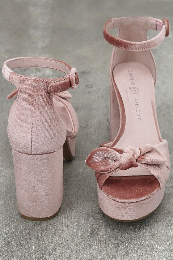 119e0fda279 Head to high tea or the after party in the Chinese Laundry Tina Rose Pink  Velvet