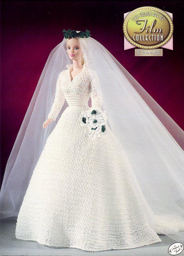 Crochet Fashion Doll Barbie Pattern- #510 LOVE STORY | Barbie ...