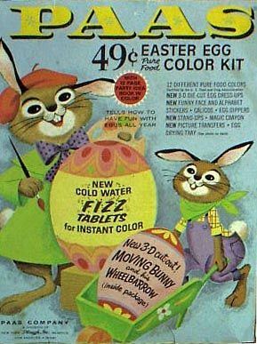 Paas Easter egg coloring kit 1970's Vintage easter