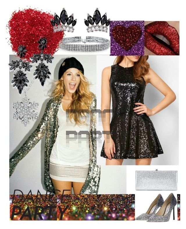 """""""#danceparty"""" by amiraahmetovic ❤ liked on Polyvore featuring Jimmy Choo, Bling Jewelry and Fallon"""