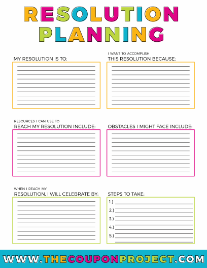 Free New Year S Resolutions Planning Printables The Coupon Project How To Plan Catholic Teacher Planning Printables