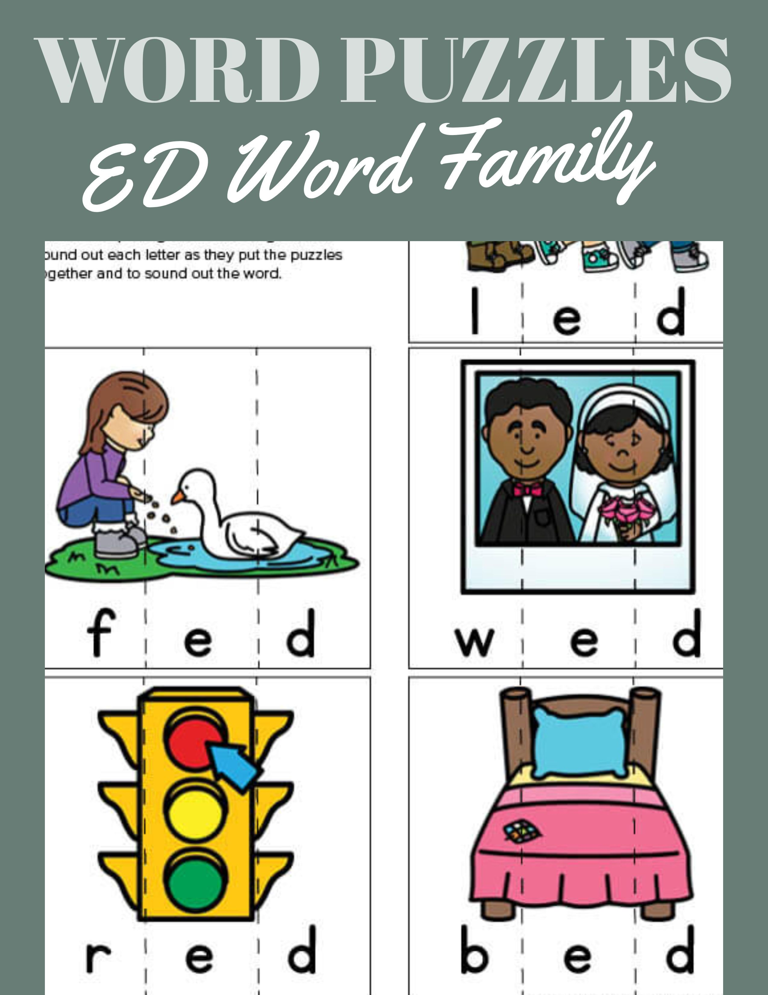 Ed Word Family Puzzles