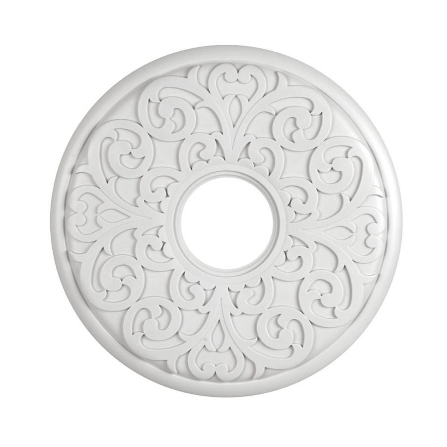 Ceiling Medallions Lowes Shop Portfolio White Ceiling Medallion At Lowes  Dine In