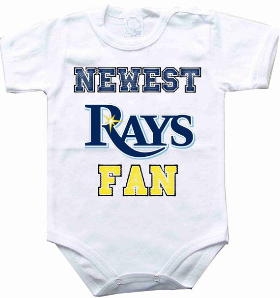 801c30e32 Baby bodysuit Newest fan Tampa Bay Rays baseball by rockbabysuit ...