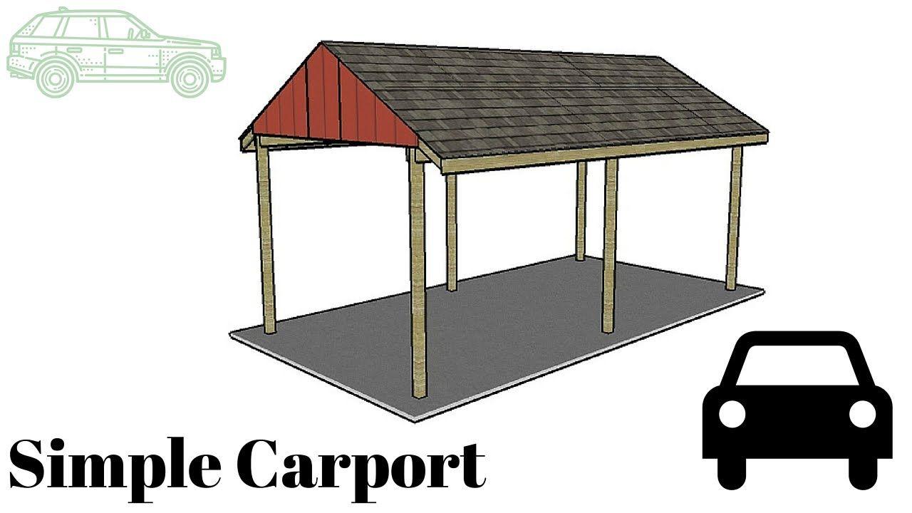 Free Simple Carport Plans Building a carport, Carport