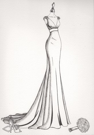 Photo of Wedding Dress Sketch