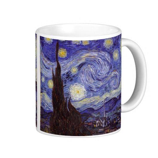 Taza De Café Bello Artes Del Vintage De La Noche Estrellada De Zazzle Com Starry Night Van Gogh Vincent Van Gogh Van Gogh