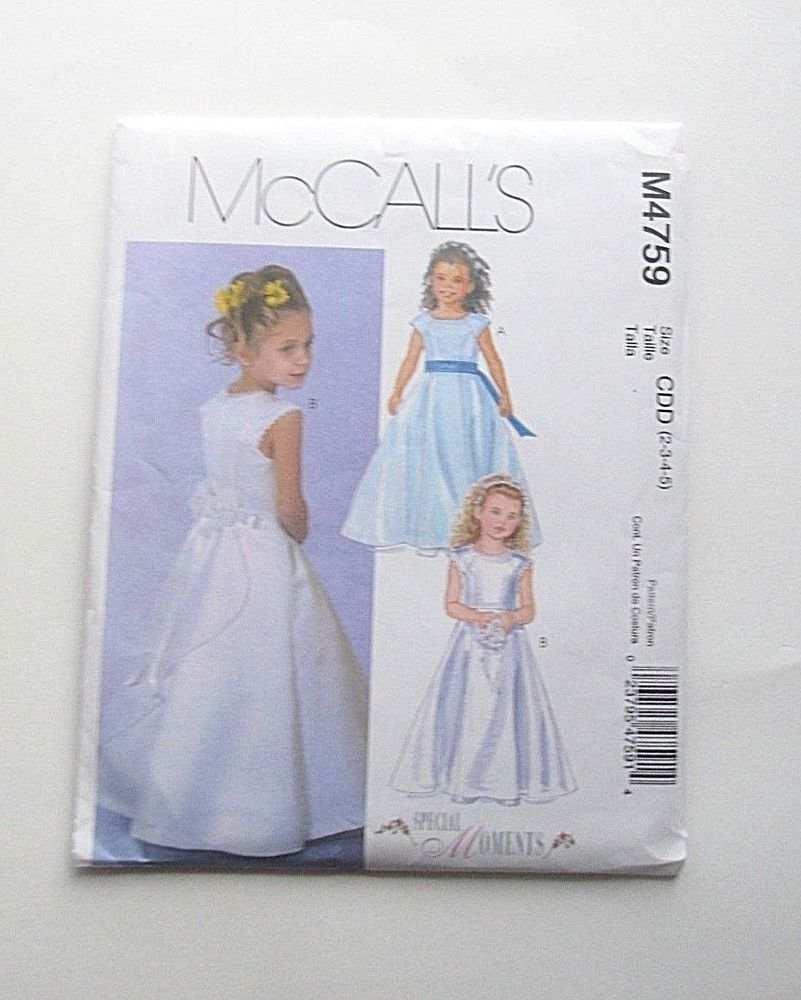 Details about McCall\'s Special Moments Children\'s Dress Pattern ...