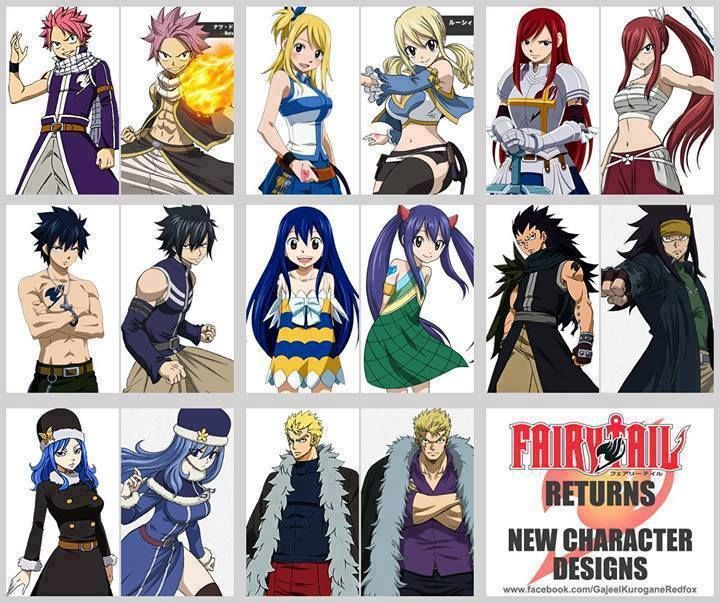 Fairy Tail New Character Designs // Natsu Dragneel, Lucy
