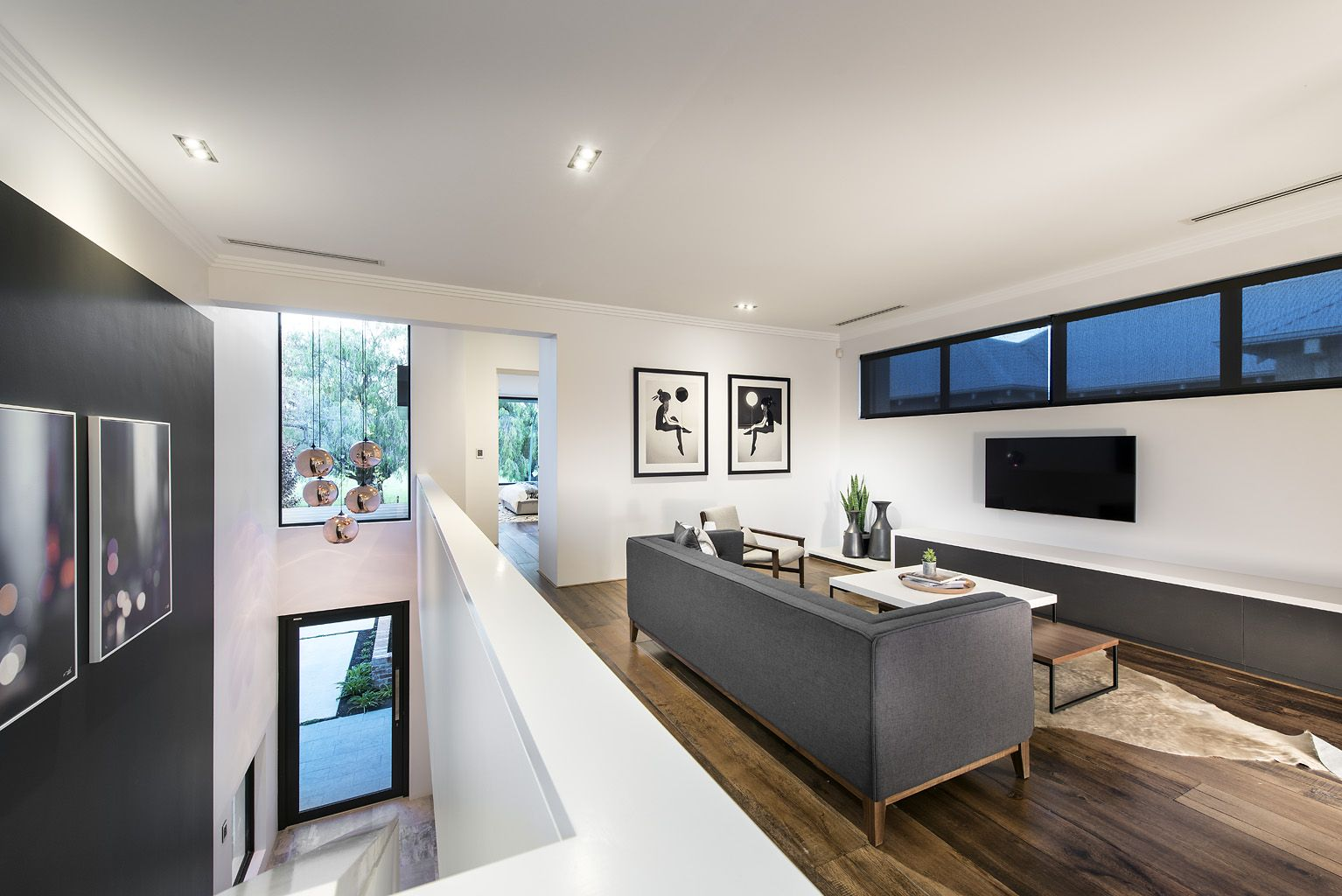 White Ceilings/walls And Streamlined Furniture Create A Sense Of  Spaciousness In The Tribeca Display Home By Webb U0026 Brown Neaves.