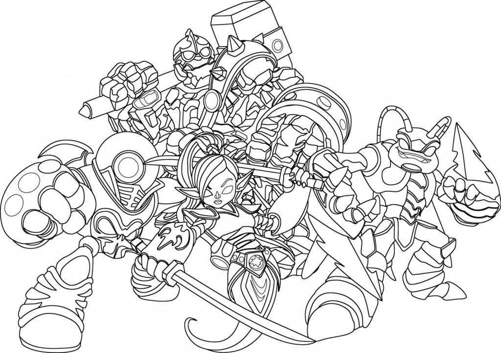 Skylanders Giants Coloring Pages Crusher Coloring Page