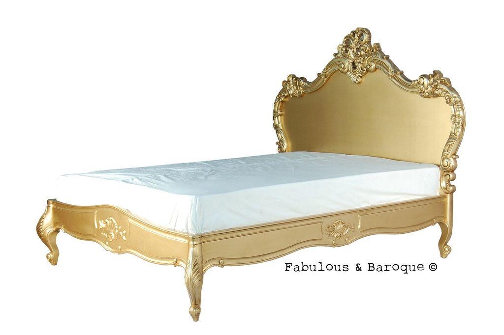 babette bed  gold leaf