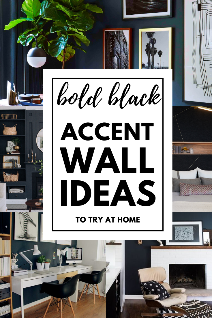 Bold Black Accent Wall Ideas Black Accent Walls Accent Wall Accent Wall Colors