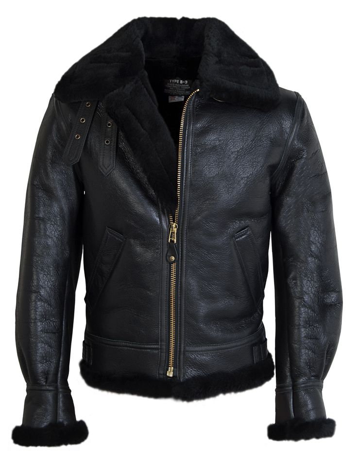 060eb95f74e2 Schott NYC Classic B-3 Sheepskin Leather Bomber Jacket 257S ...