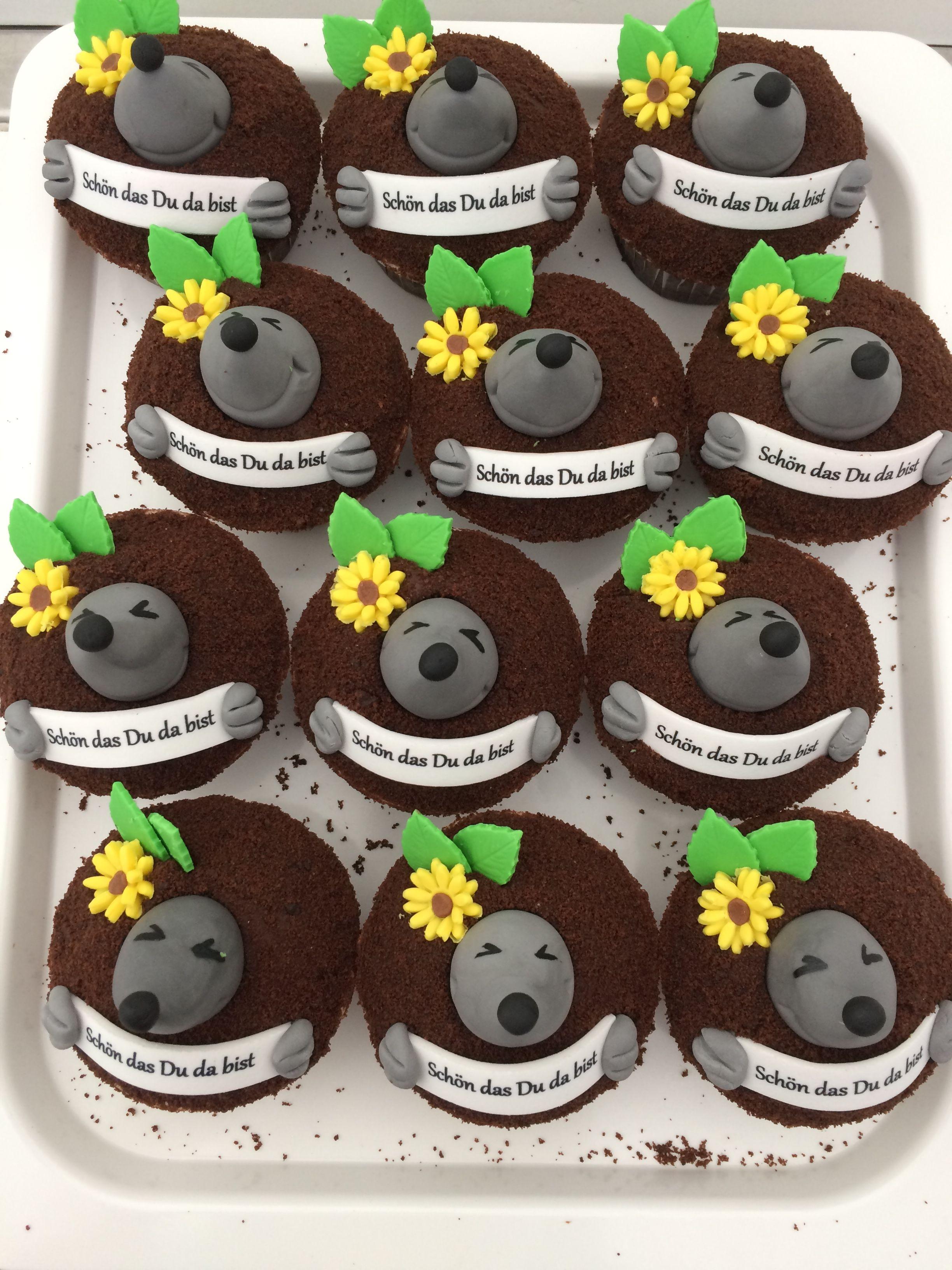 Maulwurf Cupcake Cupcakes Backen Schokokuchen Maulwurf Mauli Cupcakesdesign Yummy Kostlich Hamburg Wasdasher Cupcakes Geburtstagstorte Motivtorten