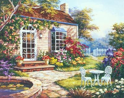 Spring Patio I Mural - Sung Kim| Murals Your Way