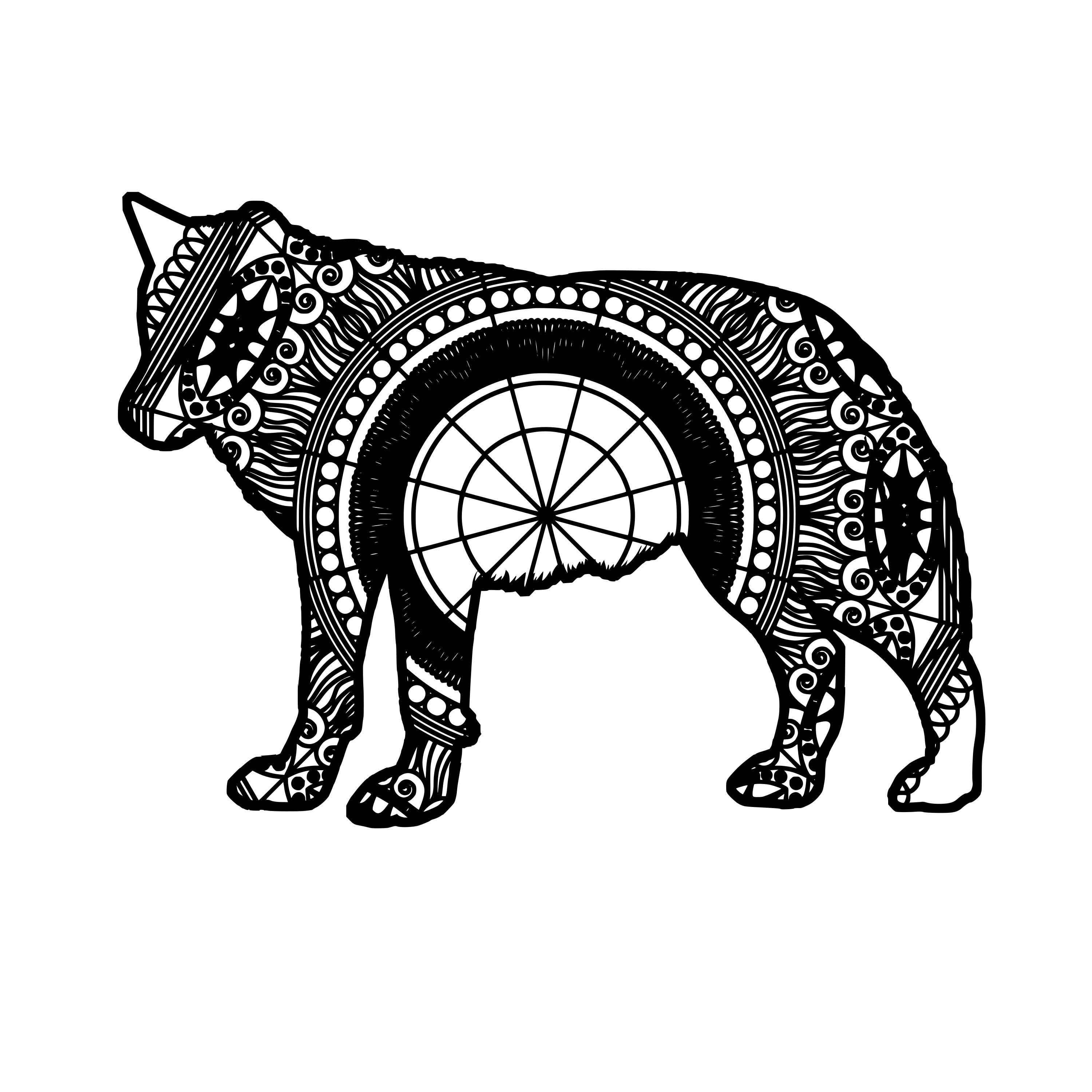 981+ Mandala Svg Wolf – SVG,PNG,EPS & DXF File Include