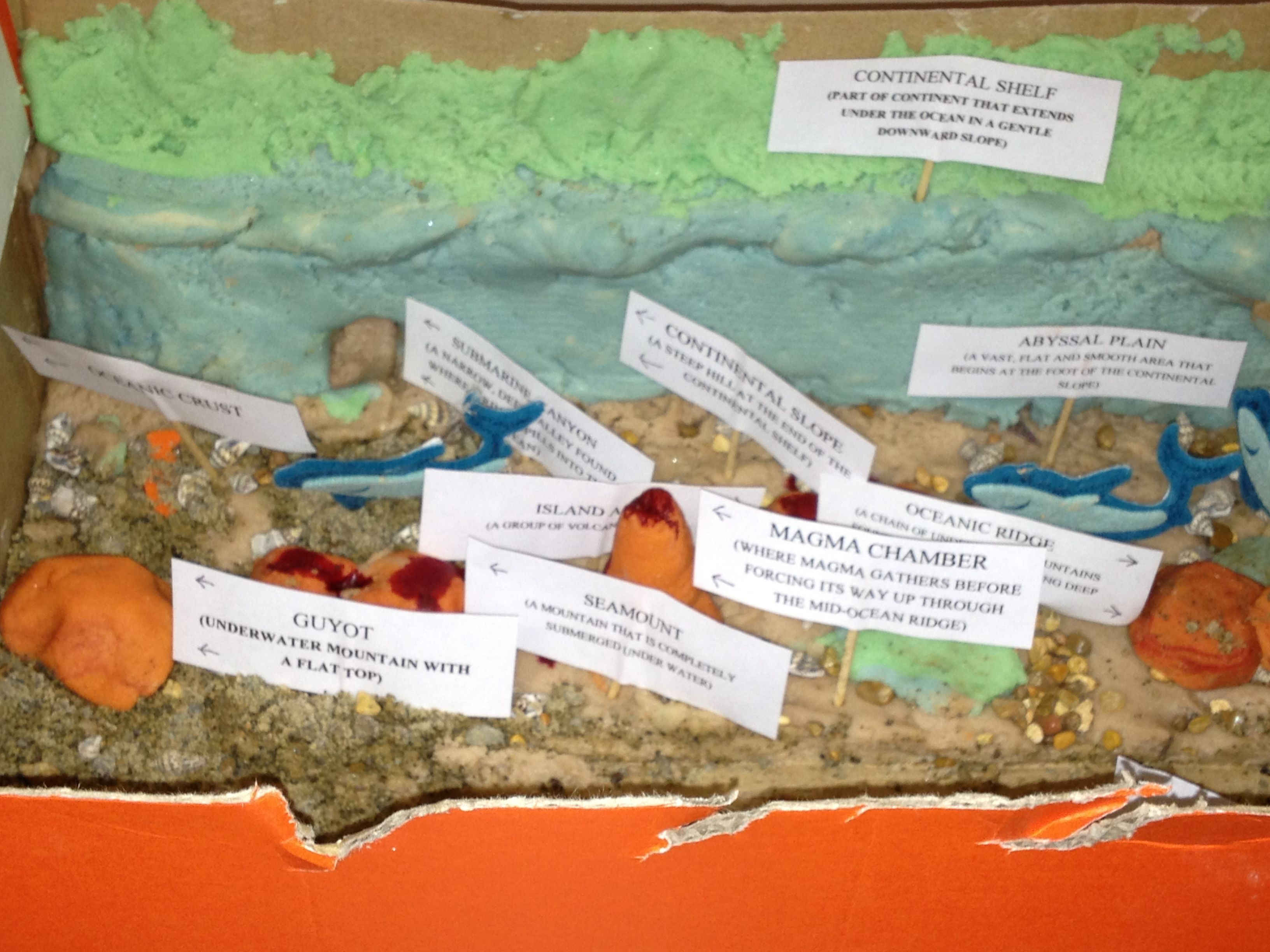 Model of the Ocean floor for Earth