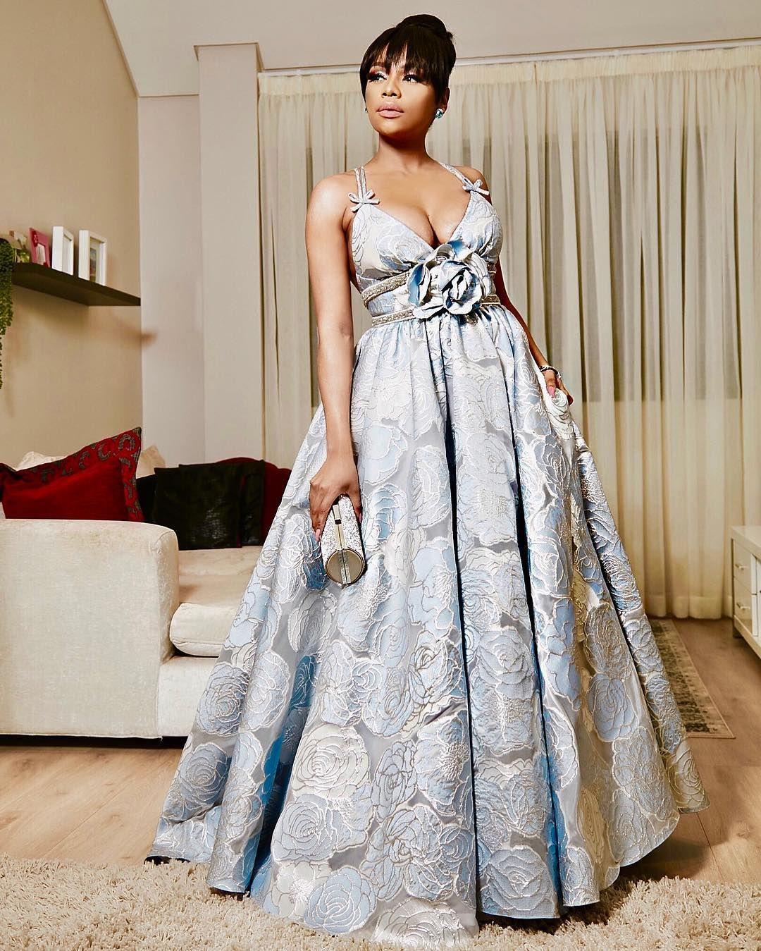 Bonang Matheba in Villioti Fashion Dress is everything
