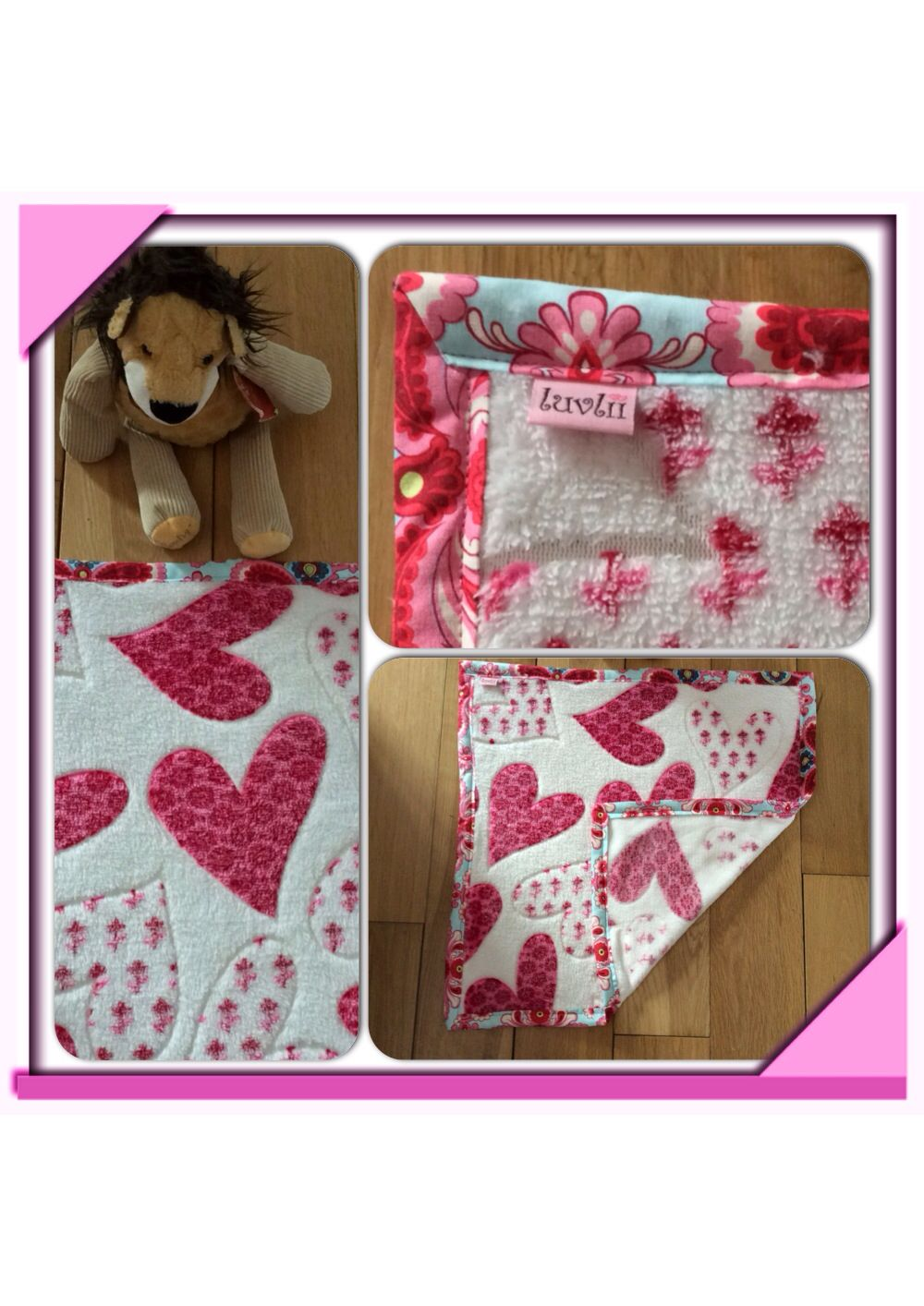 Baby blanket with handmade amy butler bias binding handmade