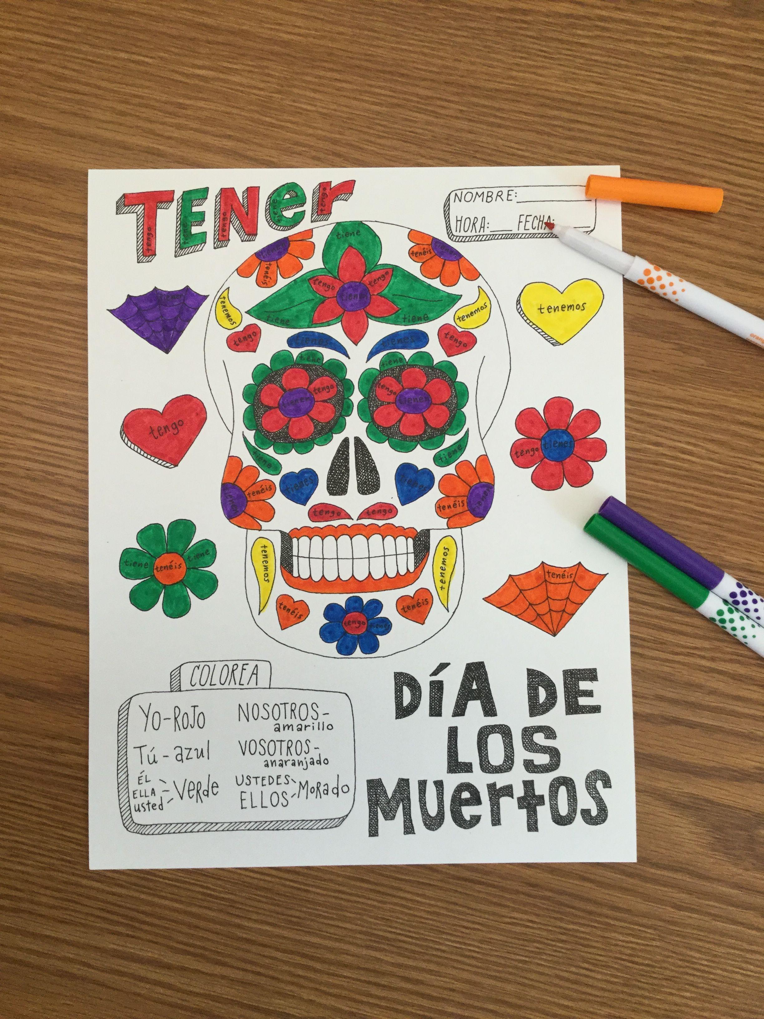 Spanish Color By Conjugation Verb Bundle