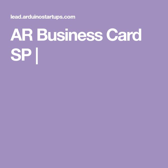 Ar Business Card Sp Business Cards Cards Business