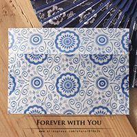 2014 Free shiipping Retrol style flower paper envelope for wedding gift packaging envelopes 50pc/lot  17.5*12.5cm