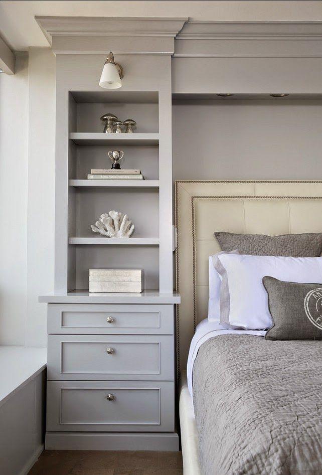 Built In Shelves Around Bed Have Door On One Inside Facing Bed