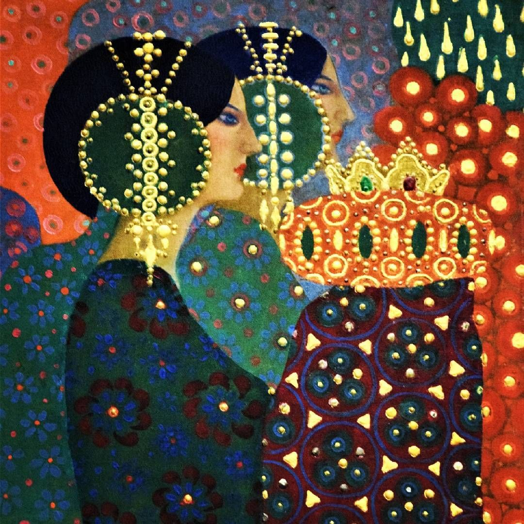 Detail Vittorio Zecchin Le Mille E Une Notte Painting Pittura Liberty Art Musee Museum Museedorsay Cute Paintings Pattern Art Gold Leaf Art
