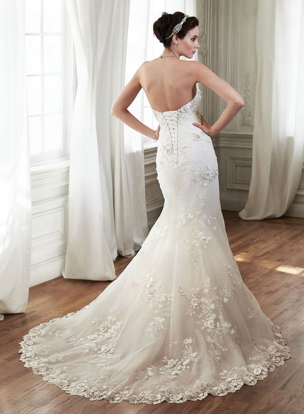 Simple Maggie Sottero Chante Wedding Dress The Knot