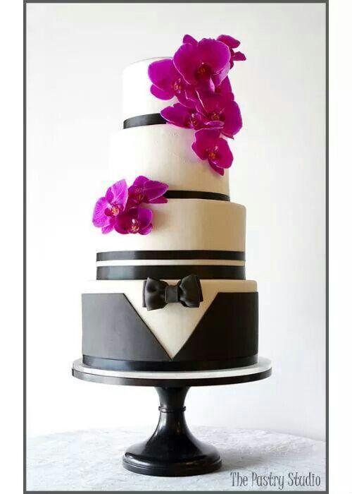 Orquid Wedding Cake