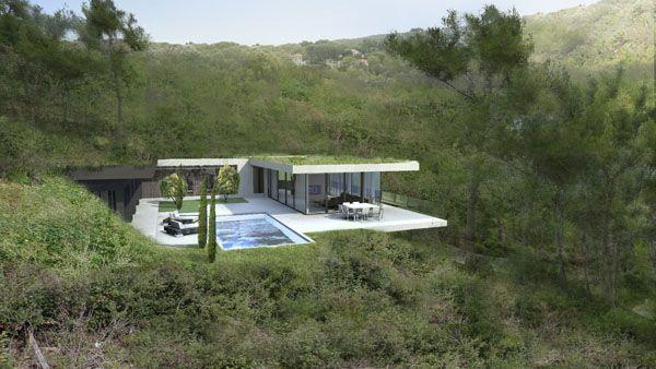 maison contemporaine sur les hauteurs de cassis architecture moderne maisons contemporaines. Black Bedroom Furniture Sets. Home Design Ideas