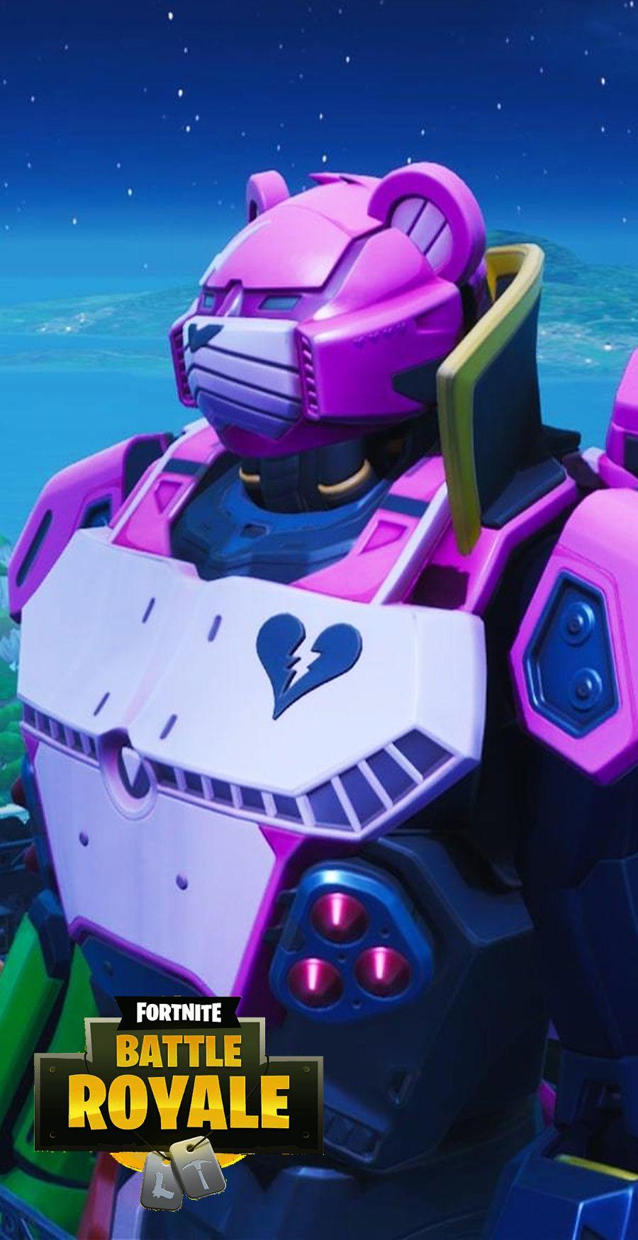 Fortnite Wallpaper Season 10 Giant Pink Bear Robot Papeis De Parede De Jogos Fortnite Papeis De Parede
