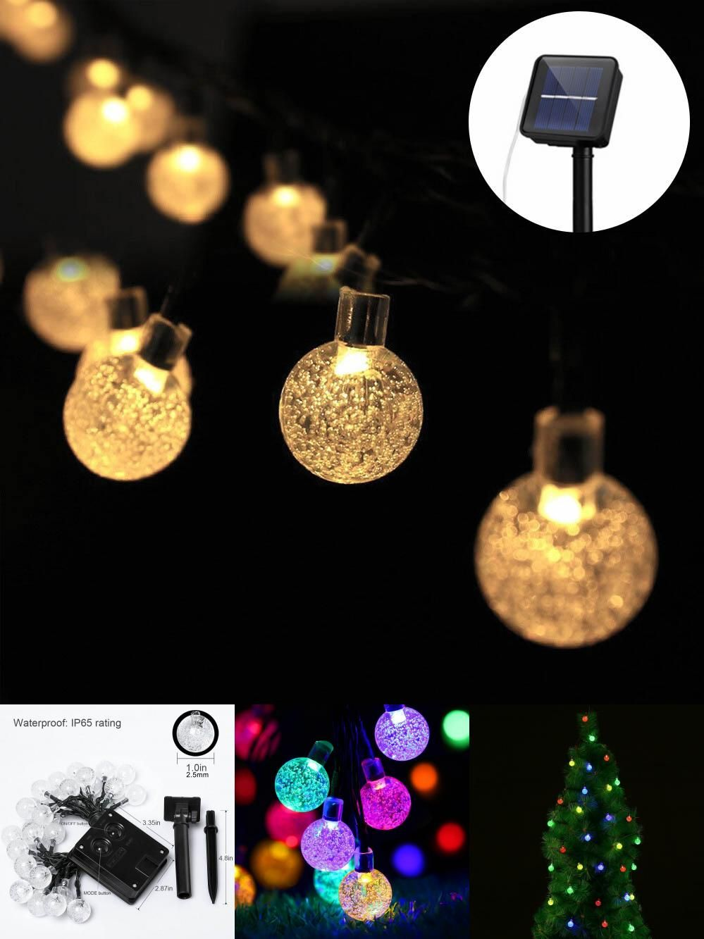 Visit to buy 7m outdoor waterproof solar led strings light decor visit to buy 7m outdoor waterproof solar led strings light decor ornament 30 crystal mozeypictures Gallery
