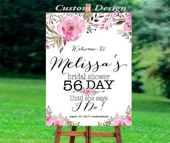Bridal Shower Welcome Sign, Bridal Shower sign, Bridal Shower decoration, PRINTABLE Welcome sign, Bridal shower welcome sign, BSWS4