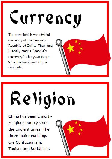 China Fact Cards Treetop Displays Printable Eyfs Ks1 Ks2 Classroom Displays Primary Teaching Reso China Facts China For Kids Teaching Resources Primary