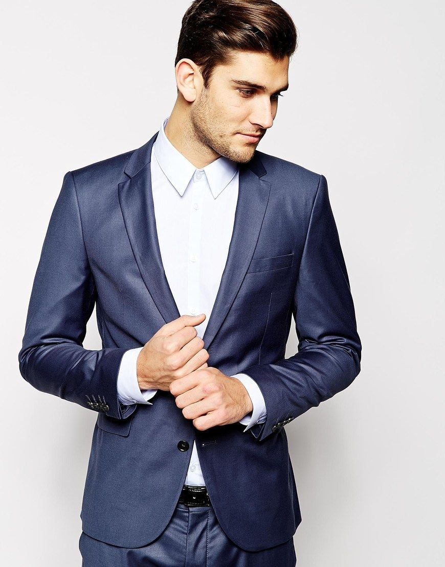 huge discount 7f46f 82f1e Selected Indigo Suit Jacket In Skinny Fit | Groom and his ...