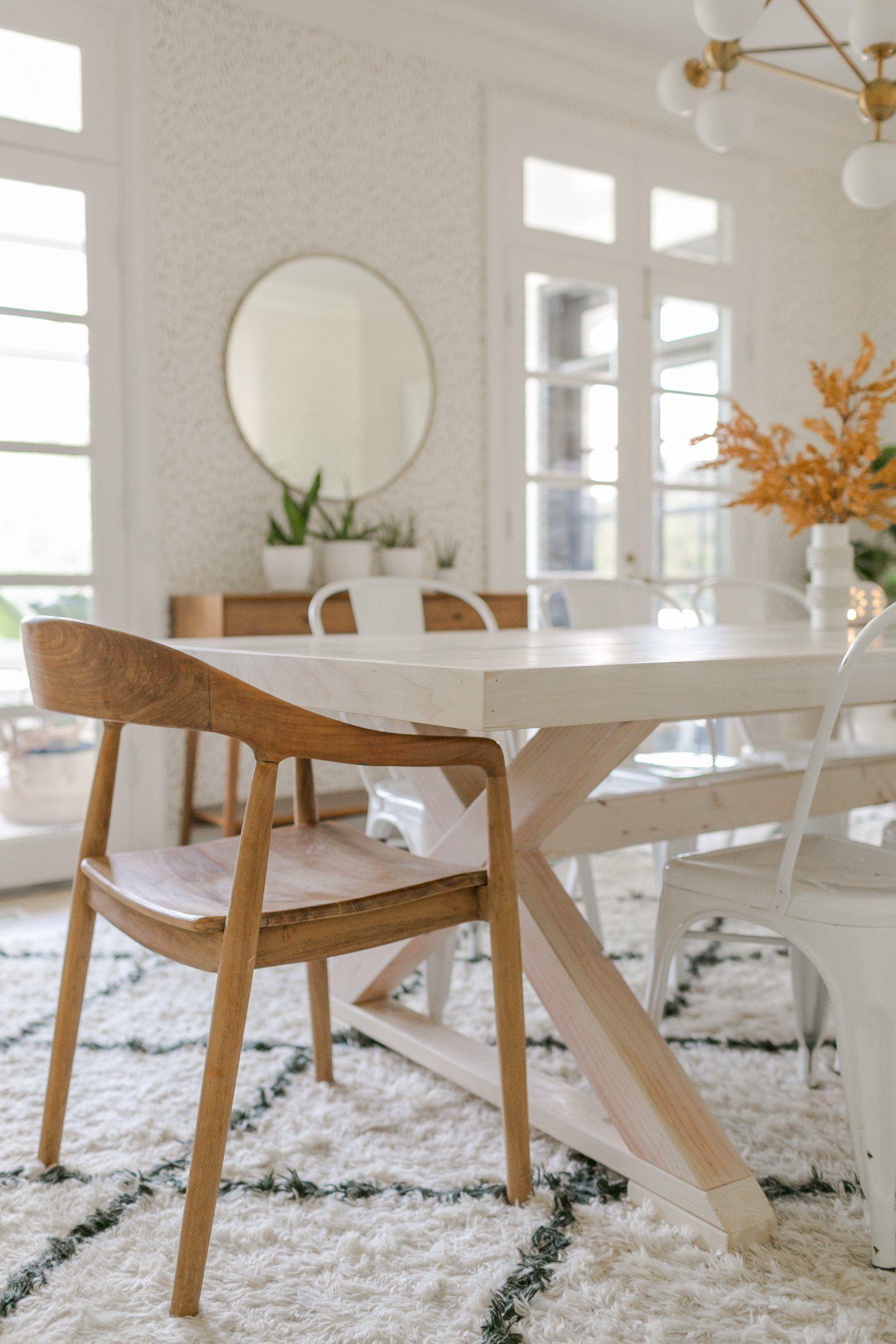 Modern Farmhouse Table DIY Modern farmhouse table, Diy