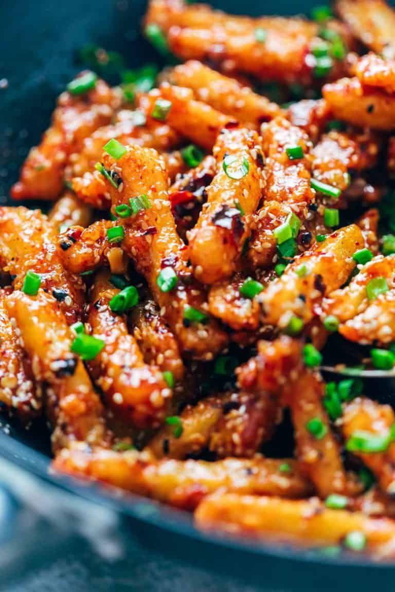 Crispy Honey Chilli Potatoes - so easy to make at home!