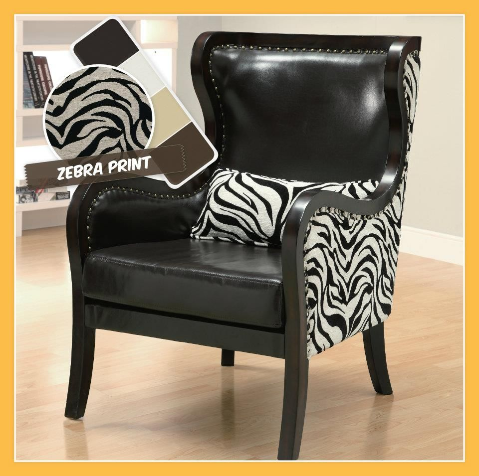 Zebra Accent Chair Let Your Wild Side Loose Pinterest