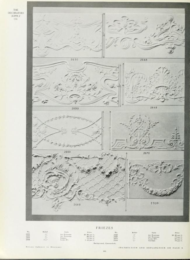 illustrated catalogue of plastic ornaments cast