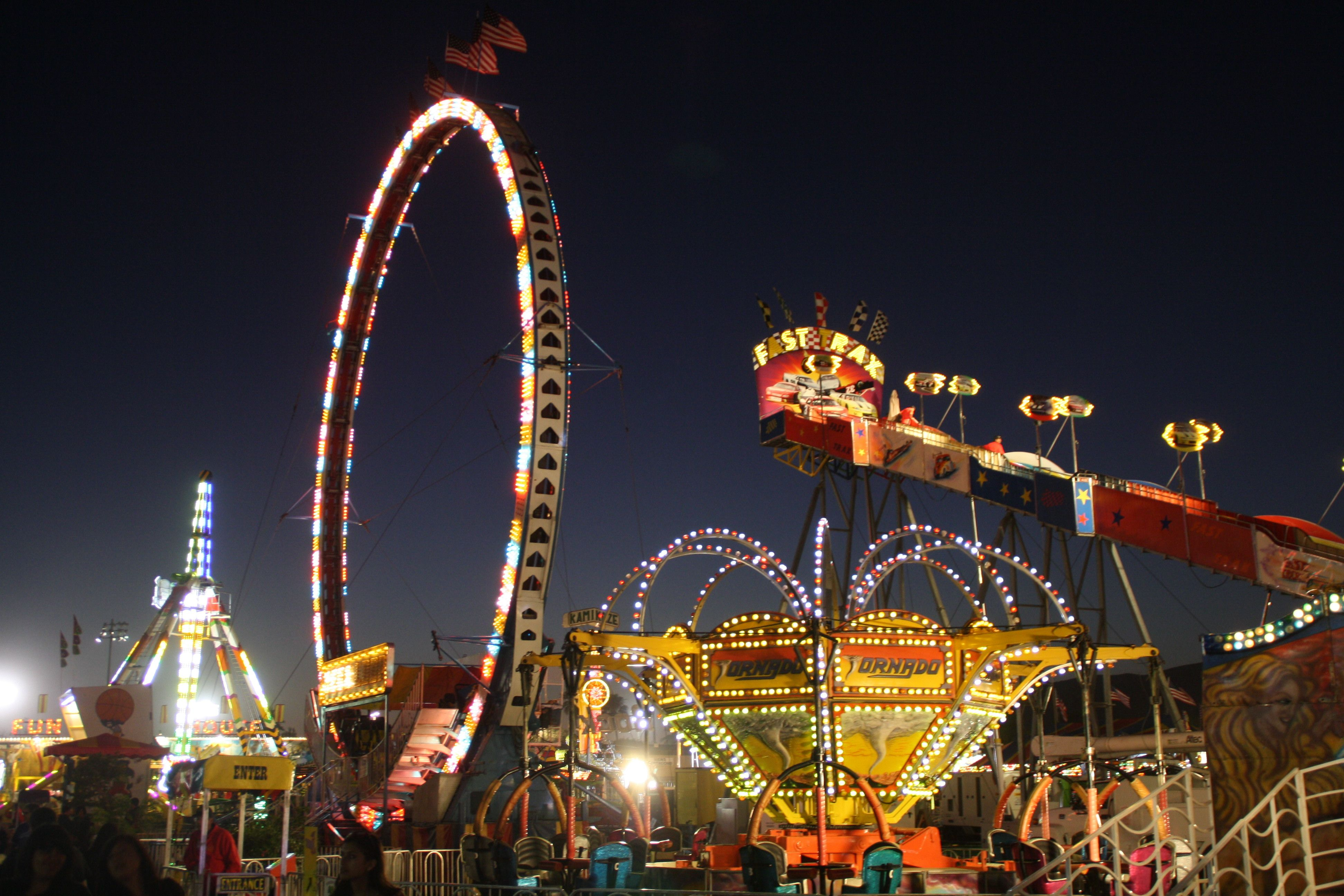 carnival midway at the ventura county fair. | fun at the fair