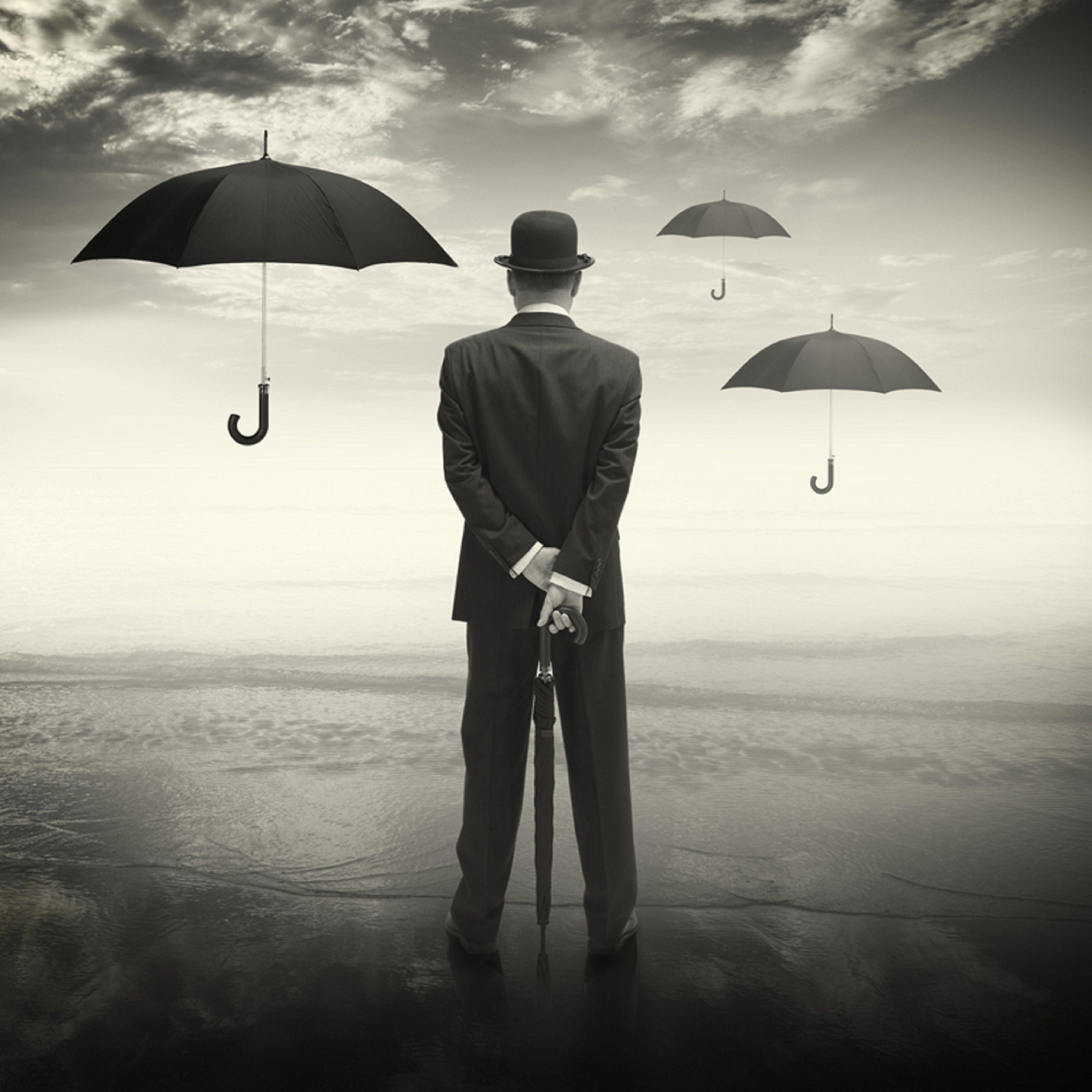 мужчина с зонтом картинка переносится кухонная